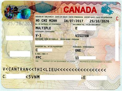 Visa thăm thân - Visitor visa. Gia đình học sinh Ngô Minh Tường